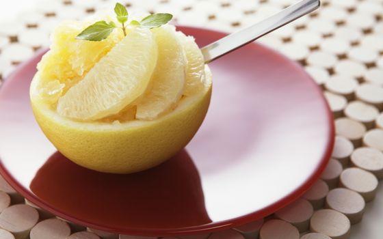 Фото бесплатно лимон, блюдце, ложка. дольки