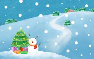 Фото бесплатно елка, зима, новый год