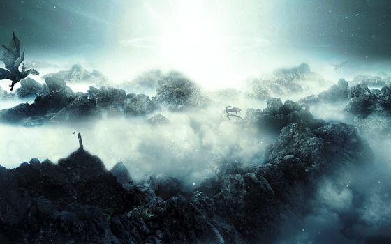 Фото бесплатно страна, фантастическая, драконы
