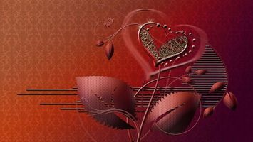 Фото бесплатно сердце, фон, стиль