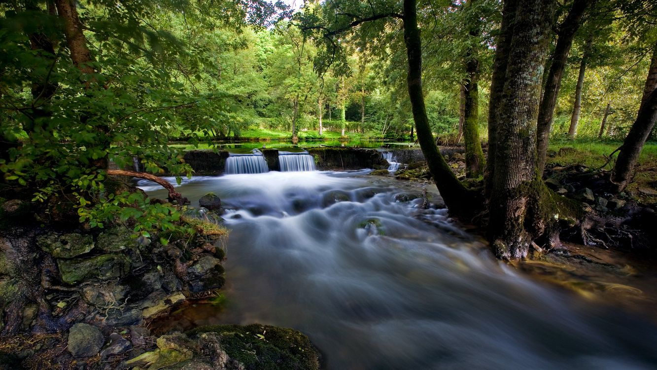 Фото бесплатно речка, водопад, ручей - на рабочий стол