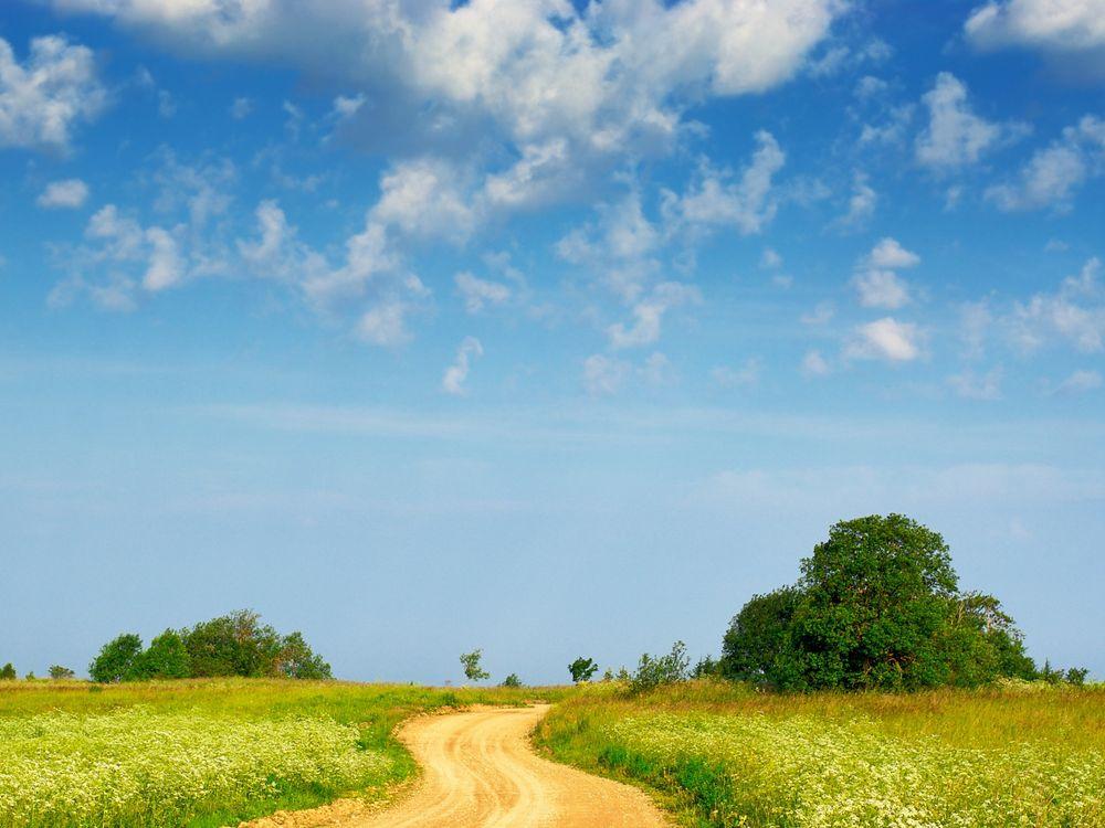 Фото бесплатно деревня, дорога, песок - на рабочий стол