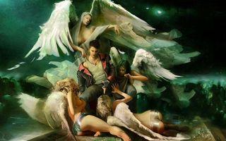 Бесплатные фото dmc,данте,ангелы,соблазн,демон,человек,игры