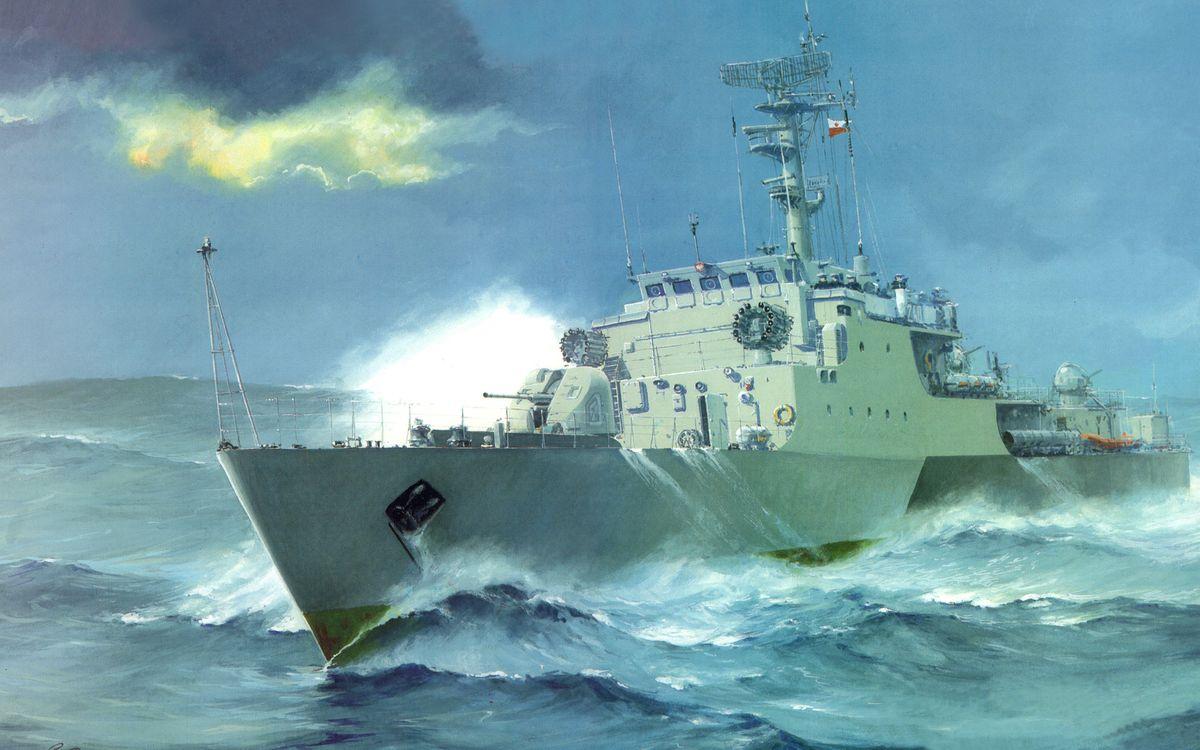 Фото бесплатно корабль, шторм, волны - на рабочий стол