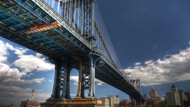 Photo free bridge, metal, cables