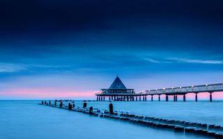 Фото бесплатно мостик, причал, зима