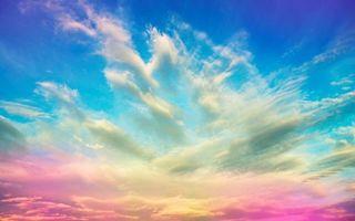 Бесплатные фото небо,голубое,розовое,облака,ветер,лето,заставка