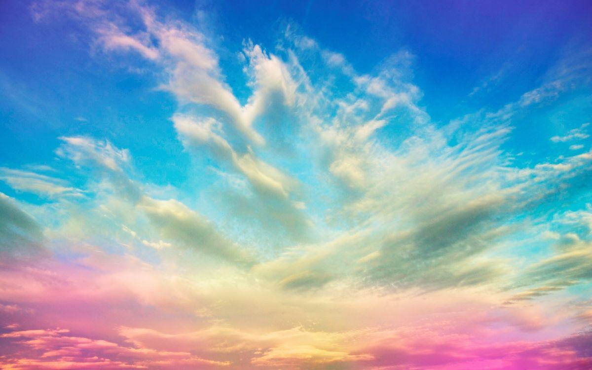 Фото бесплатно небо, голубое, розовое, облака, ветер, лето, заставка, весна, день, природа, природа