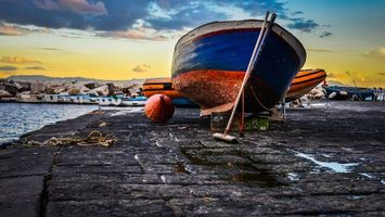 Бесплатные фото небо,облака,тучи,море,океан,лодка,причал