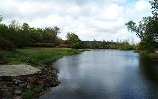 Бесплатные фото небо,облака,тучи,река,вола,волны,трава
