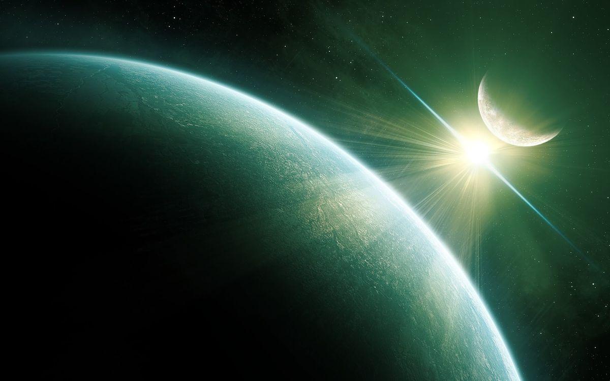 Фото бесплатно планеты, солнце, звезды, невесомость, вселенная, бесконечность, космос, космос