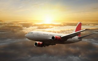 Фото бесплатно самолет, окна, пассажирский