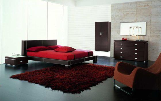 Photo free carpet, cabinet, mirror
