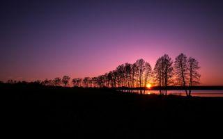 Бесплатные фото вечер,закат,небо,солнце,река,деревья,пейзажи