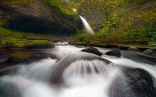 Заставки вода,река,водопад,горы,лес,деревья,трава