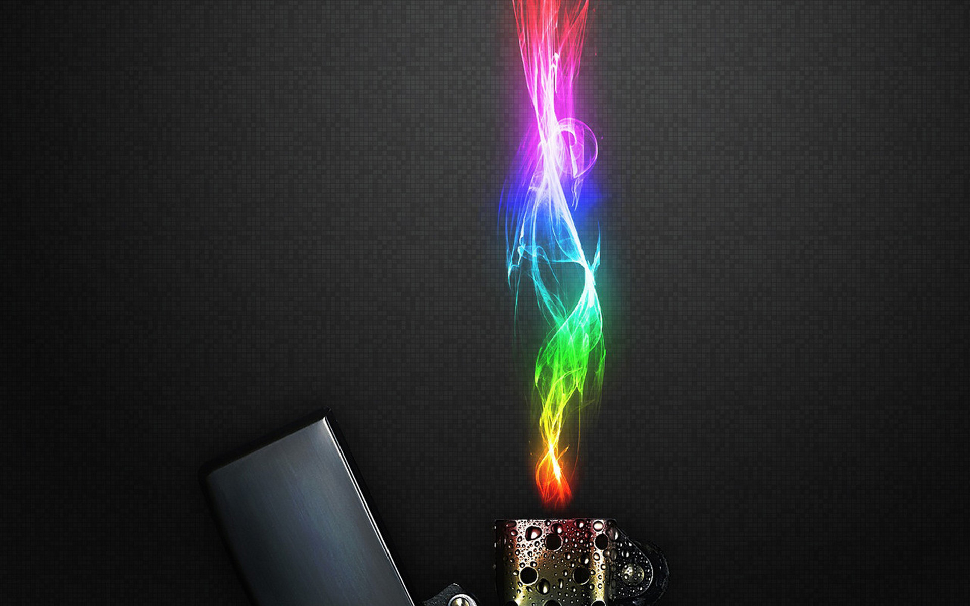 Обои зажигалка, крышка, пламя, цветное