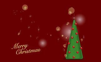 Бесплатные фото заставка, елка, фон, красный, звезды, поздравление, шарики