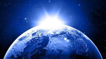 Бесплатные фото земля,планета,звезды,солнце,вакуум,лучи,космос