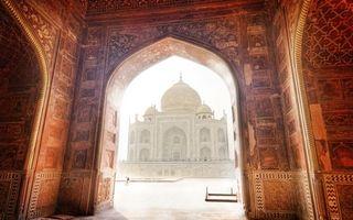 Фото бесплатно пейзаж, тадж-махал, индия, мечеть