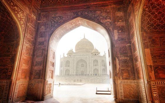 Фото бесплатно пейзаж, тадж-махал, индия