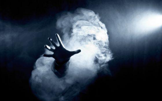 smoke, ghost, дым, horror, свет