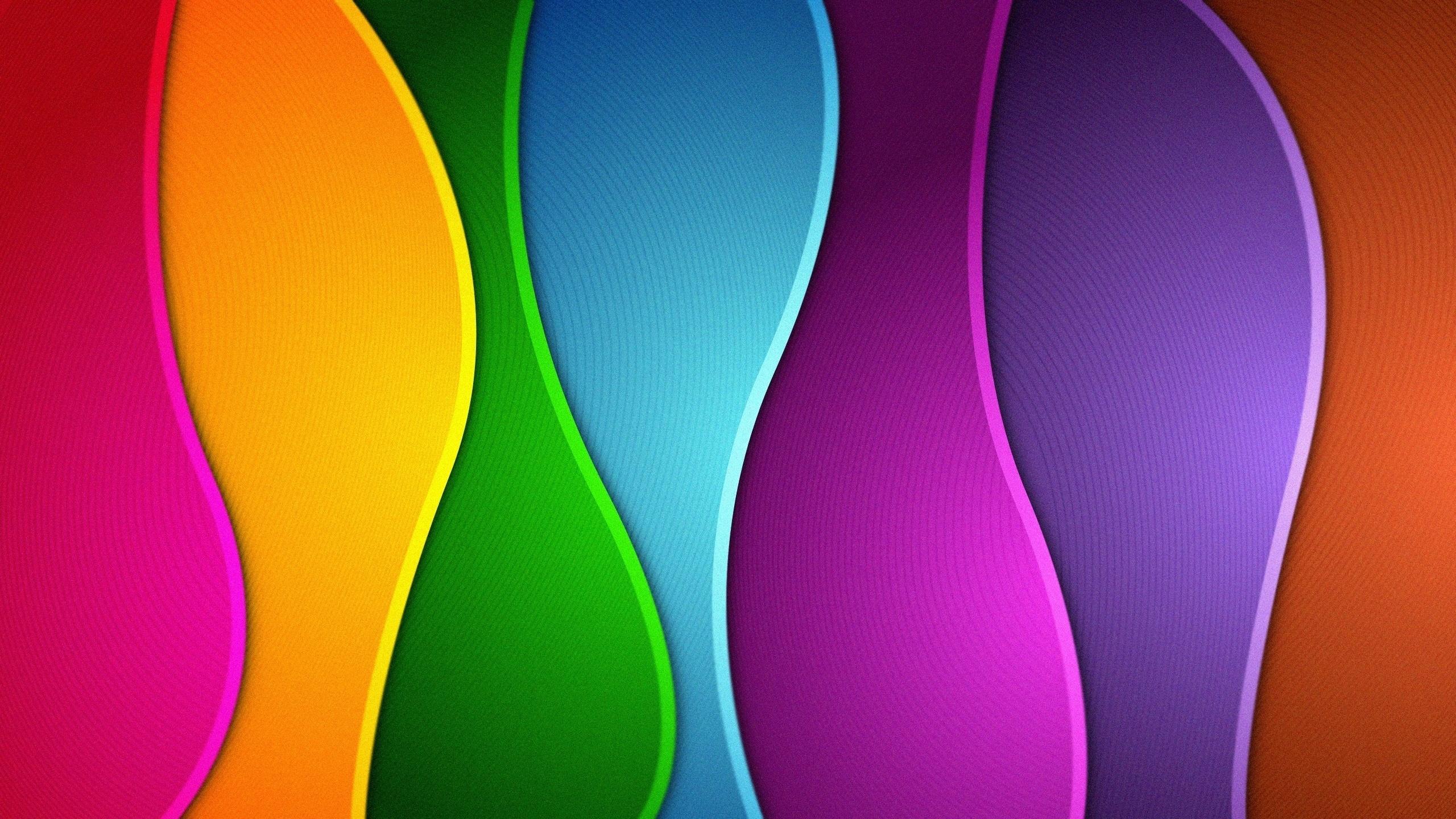 Абстрактные цветные волны бесплатно
