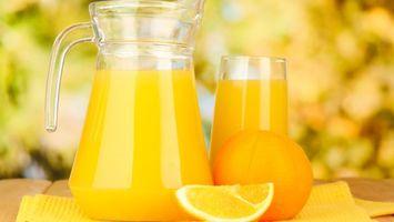 Бесплатные фото апельсин, фрукт, сок, графин, стакан, стол, еда