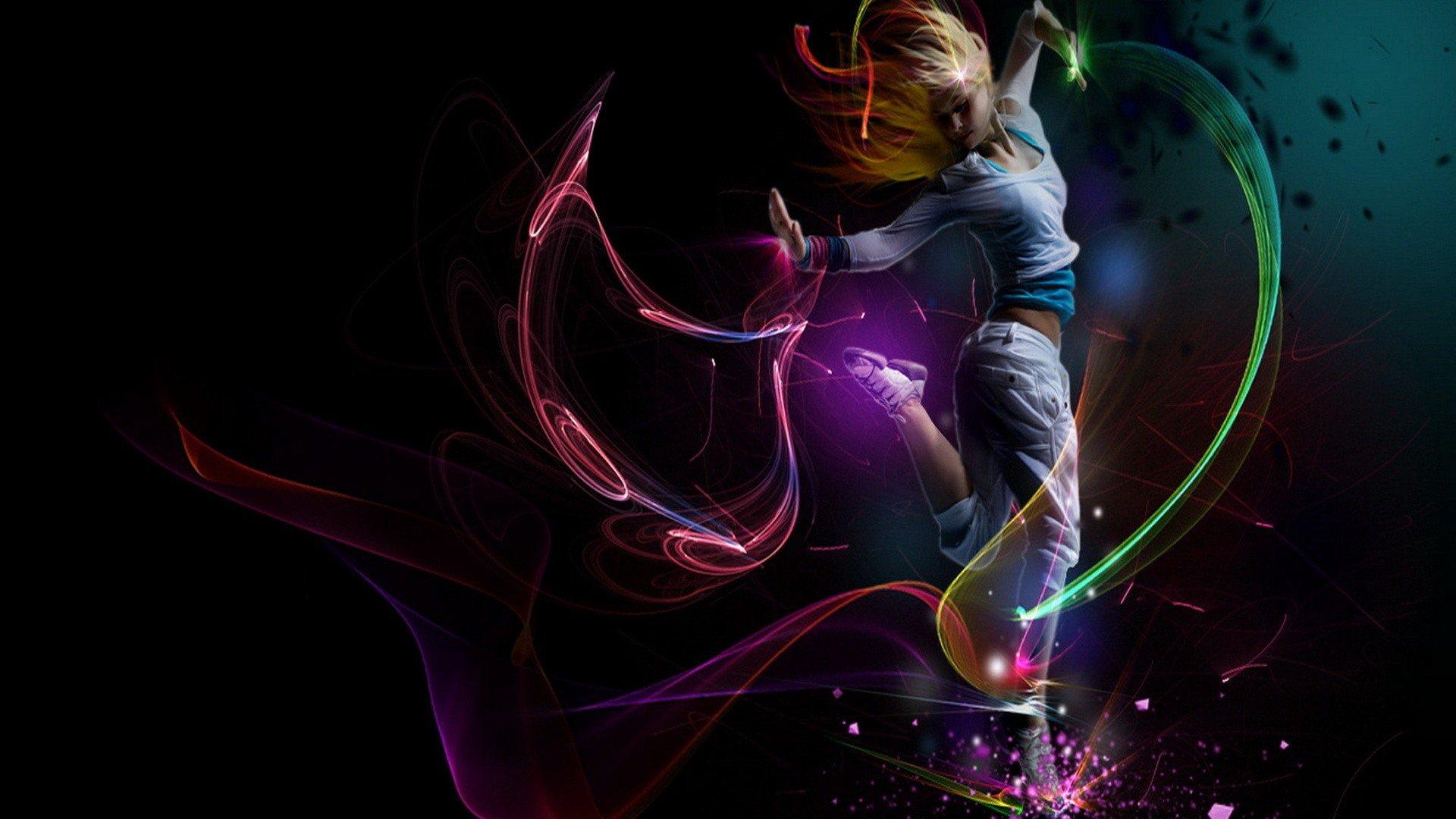 блондинка, девушка, танец