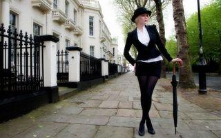 Фото бесплатно девушка, шляпа, трость