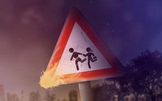Фото бесплатно дорожный, знак, дети