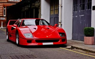 Photo free ferrari, f40, red