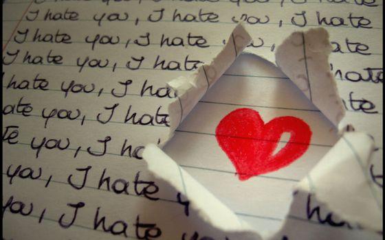 Заставки сердце, бумага, текст