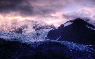 Фото бесплатно горы, снег, небо