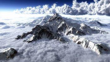 Бесплатные фото горы,вершина,снег,облака,небо,высота,природа