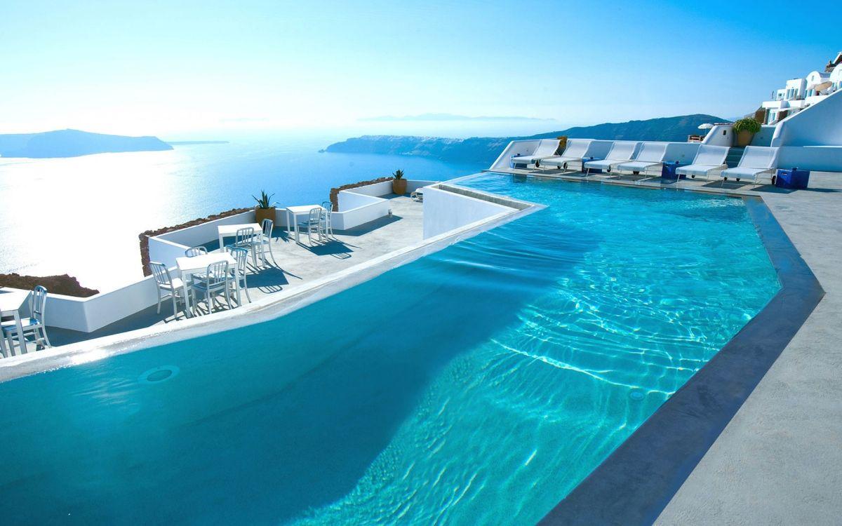 Фото бесплатно греция, отель, бассейн - на рабочий стол
