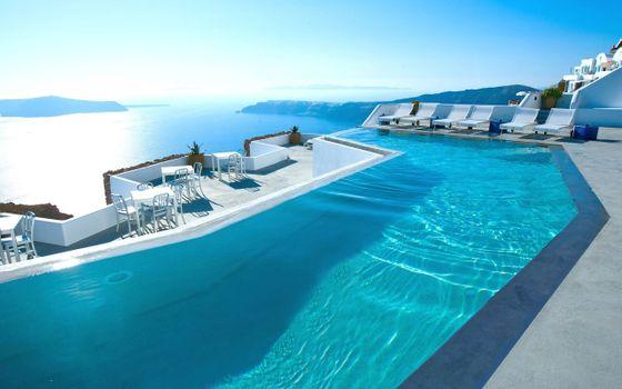 Фото бесплатно греция, отель, бассейн