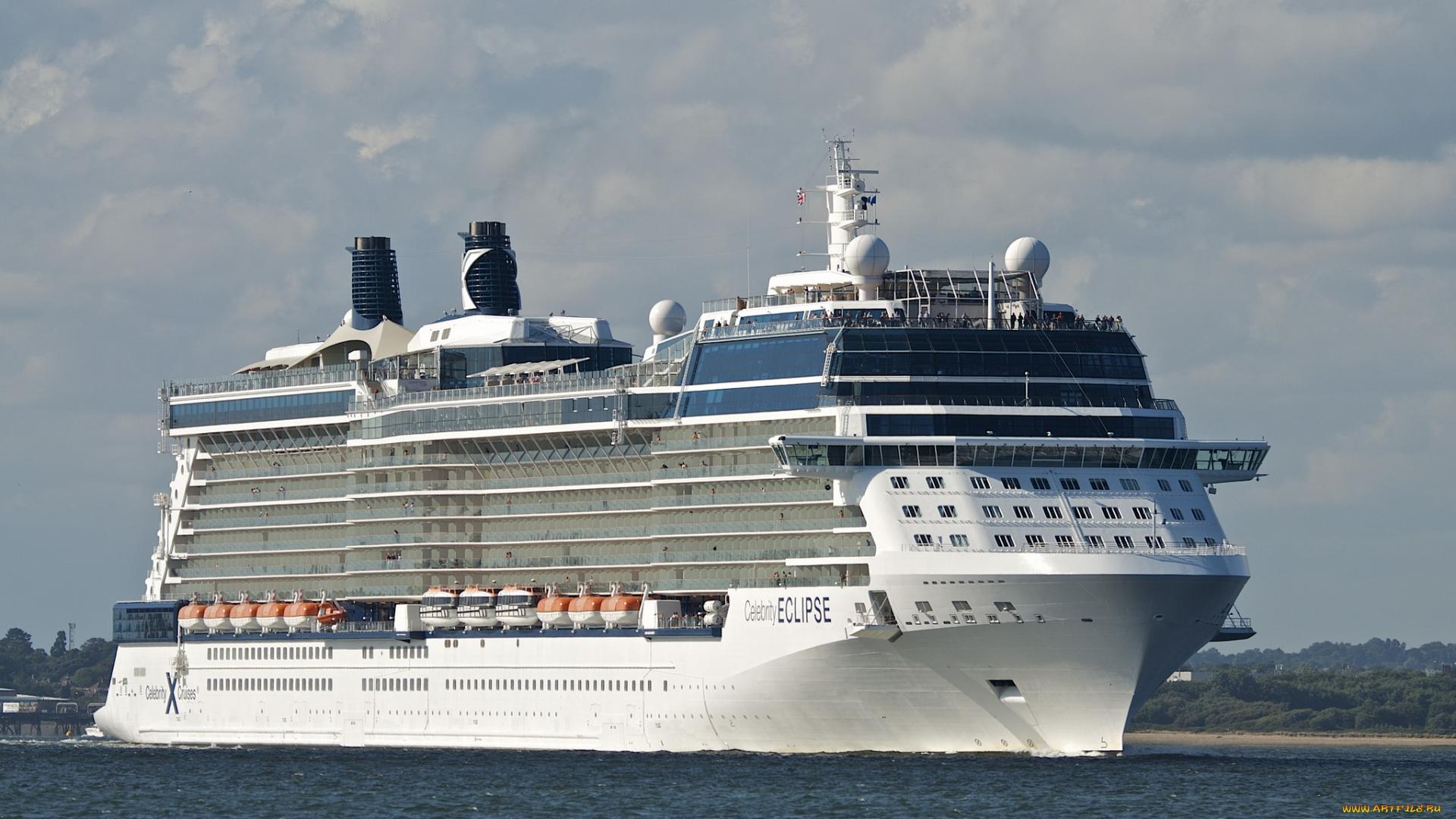 корабль, огромный, вода