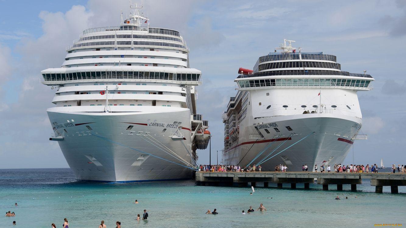 Фото бесплатно корабли, большие, пристань - на рабочий стол