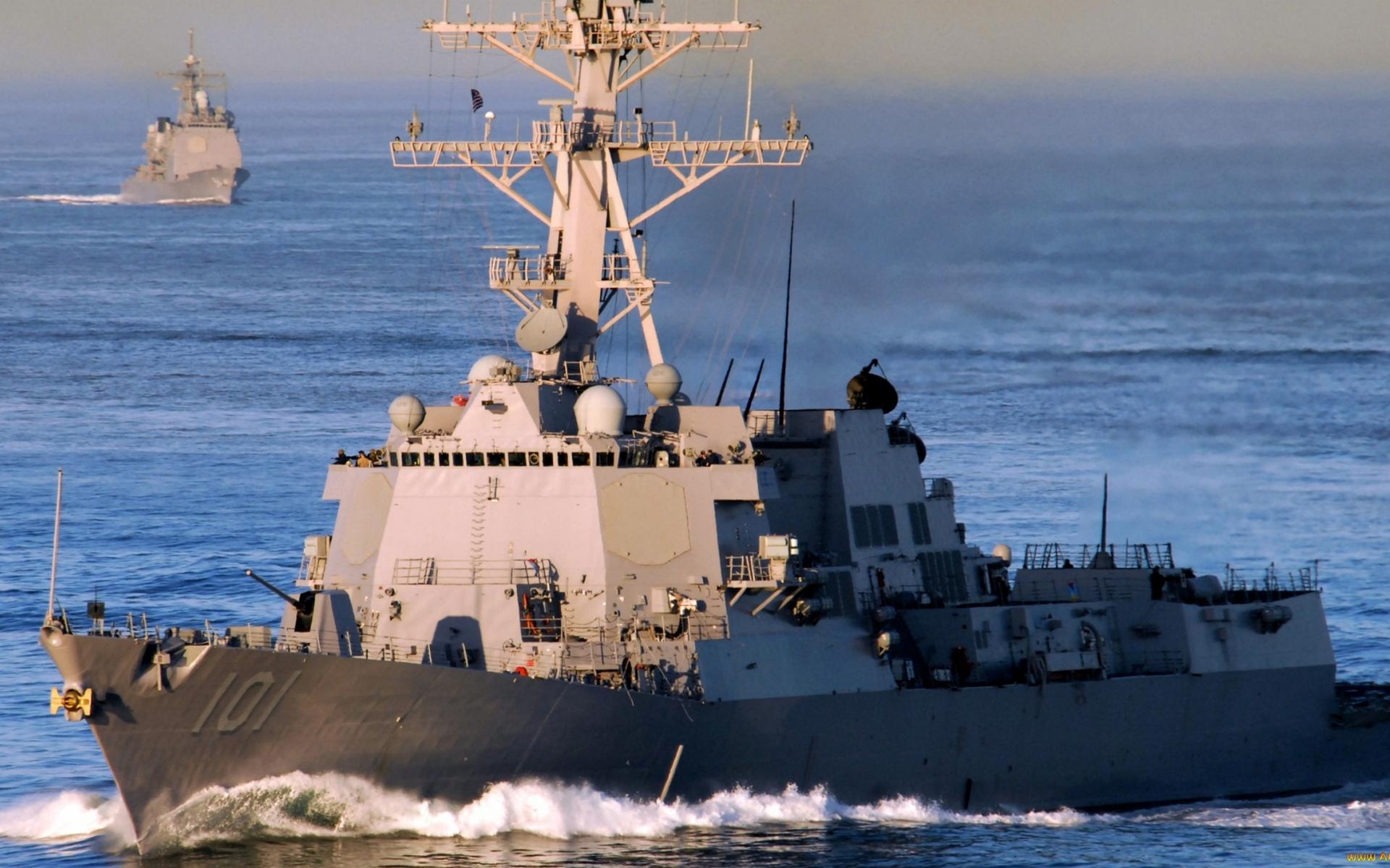 корабли, военые, палуба