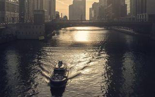 Фото бесплатно мост, дома, лодка