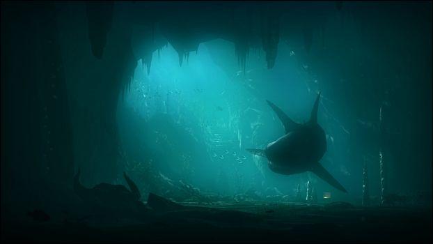 Заставки подводный, мир, пещера