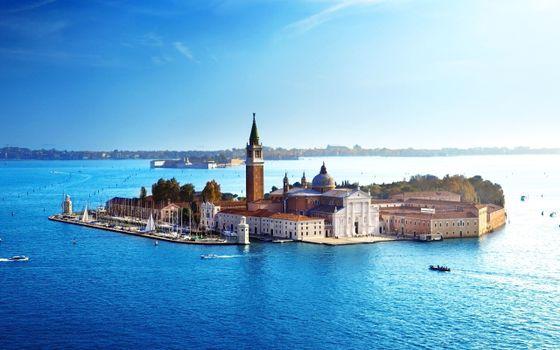 Заставки венеция, море, собор