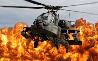 Фото бесплатно вертолет, лопасти, горизонт