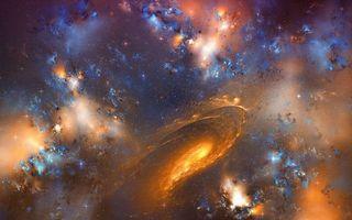 Бесплатные фото вселенная, галактики, скопление звезд, свечение, пространство