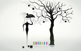 Бесплатные фото creative,desugn,креатив,девушка,лицо,кошки,зонтик