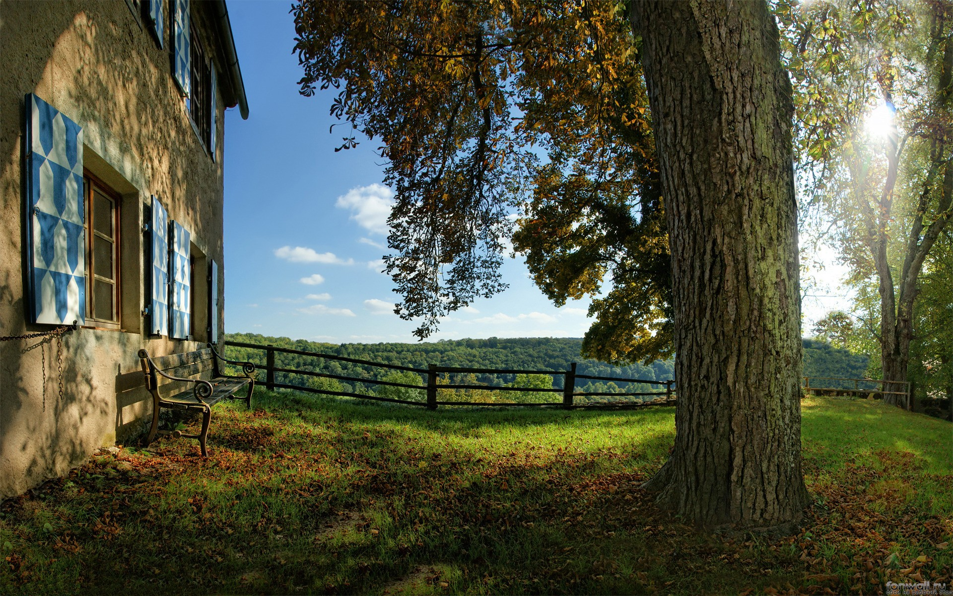 природа отдых дом деревья  № 254135  скачать