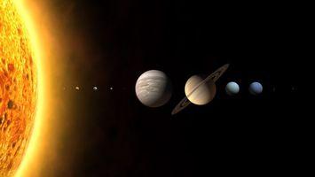 Бесплатные фото солнечная система,планеты,земля,солнце,юпитер,сатурн,венера