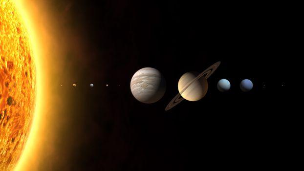 Бесплатные фото солнечная система,планеты,земля,солнце,юпитер,сатурн,венера,плутон,тритон,нептун,космос