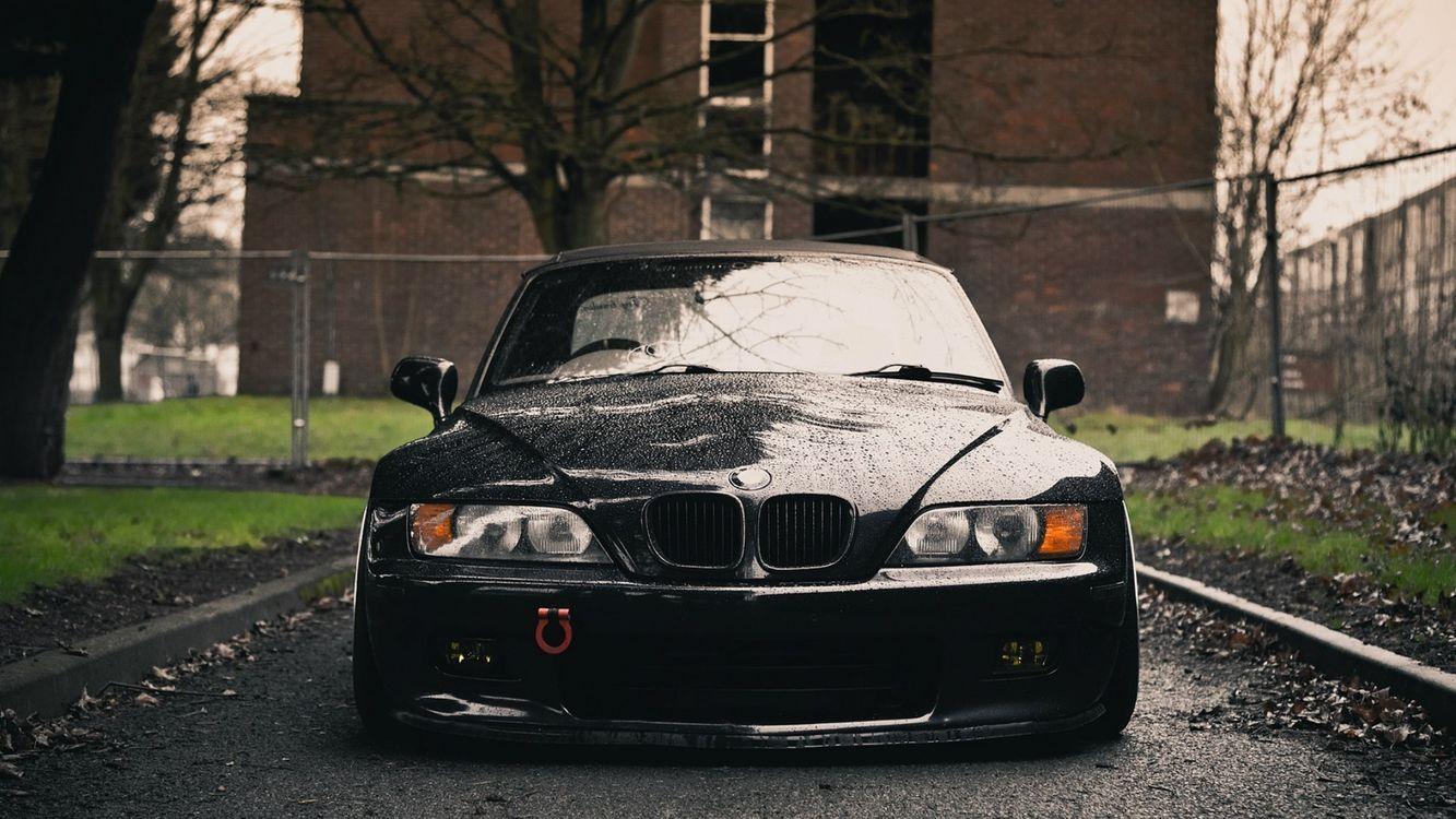 Фото бесплатно автомобиль, бумер, темный, дверки, стекло, багажник, асфальт, дорога, полоса, парк, деревья, фары, машины, машины