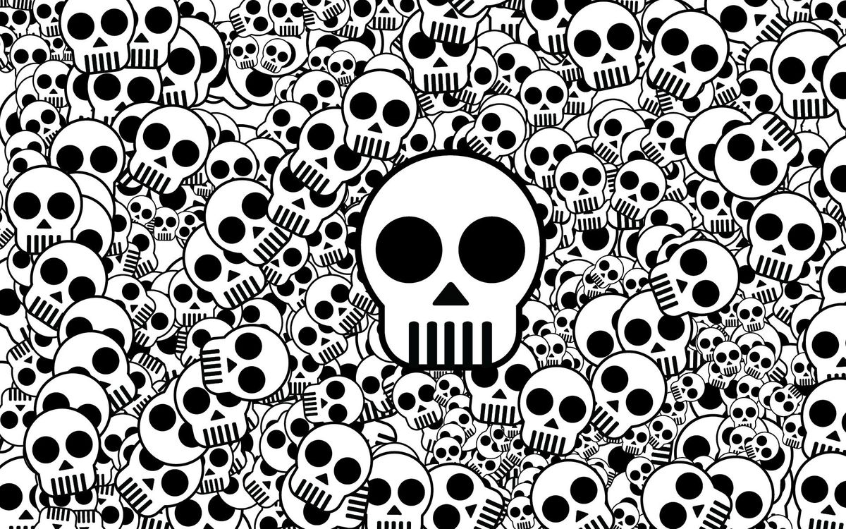 Фото бесплатно черепа, разного, размера, глаза, зубы, черно-белые, текстуры, текстуры